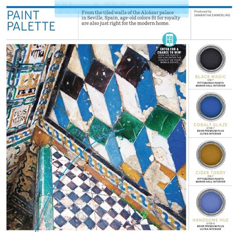 spain colors paint palette tiles interiors by color