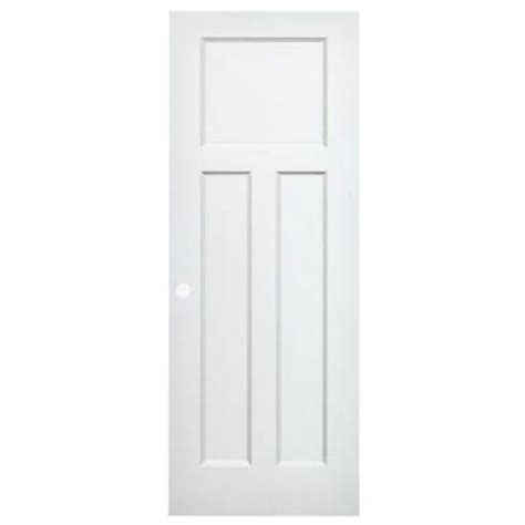 Pre Bored Interior Doors 3 Panel Mission Primed White Interior Pre Bored Door Slab