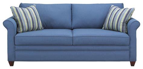 blue sleeper sofa denver sleeper sofa ranger twill blue
