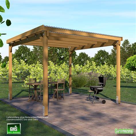 holz pavillon 4x4 meter ehrf 252 rchtige pergola bauen haus design ideen