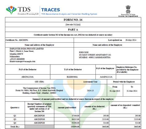 excel format of form 16 for ay 2015 16 form 16 xls format wqzrlvz