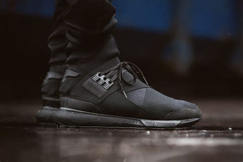 Adidas Y 3 Qasa High In Black by Adidas Y 3 Qasa High Black Sneaker Bar Detroit