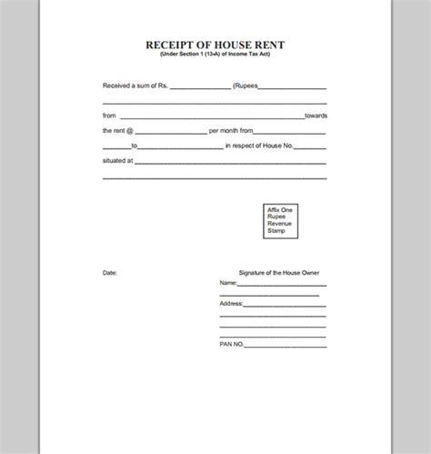 House Rent Receipts Templates by House Template For Rent Receipt Template Of House Rent