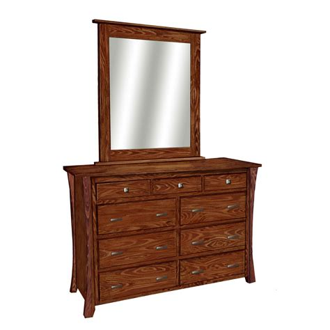 bedroom dresser with mirror bowed bedroom collection dresser with mirror amish