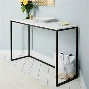 Mirrors Behind Nightstands Box Frame Console Marble Antique Bronze West Elm