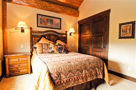 western style bedrooms western red cedar ranch style log home bedroom denver
