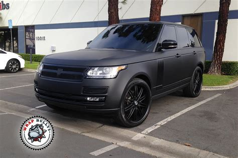 matte black range rover range rover wrapped in 3m matte black wrap bullys