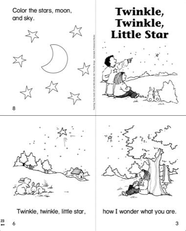 twinkle little star coloring coloring pages