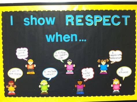 themes for moral education character education bulletin board respect character