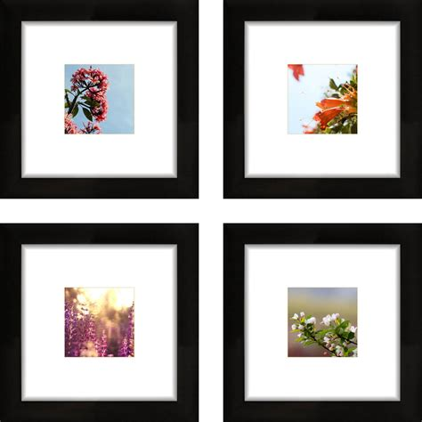 4 X 9 Picture Frame by Mainstays 4x4 Format Picture Frame Set Of 6 Walmart