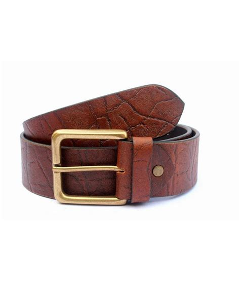 tops brown leather casual belts buy at low price