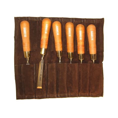 bench chisel set narex premium bench chisel set with leather tool roll