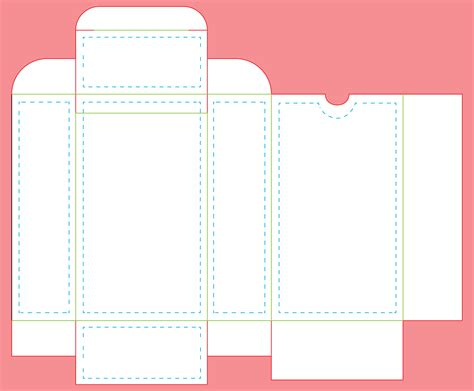 template for a deck of card box tarot tuck box 90 cards