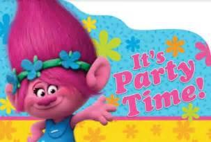 trolls invitations amp envelopes 8pk little parties
