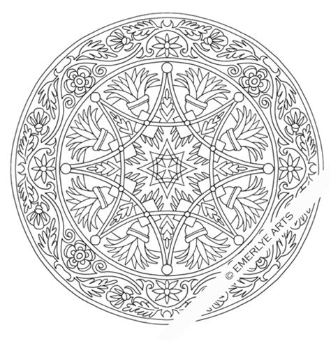 Cynthia Emerlye Vermont Artist And Life Coach Complex Complex Mandala Coloring Pages