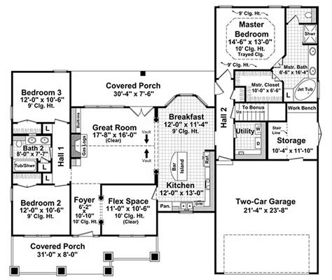 3 feet plan craftsman style house plan 3 beds 2 baths 1800 sq ft