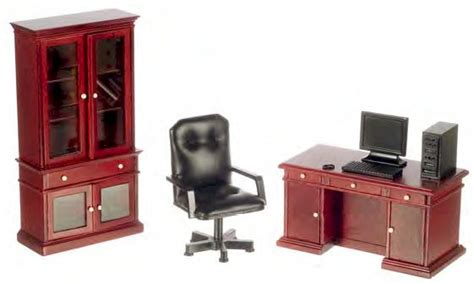 dollhouse office furniture mahogany office furniture collection doll house miniatures