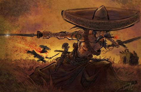 mariachi samurai by mistermoster on deviantart