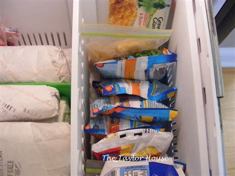 how to organize a bottom drawer freezer the house