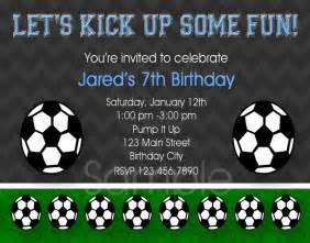 printable birthday invitations boys soccer party invites