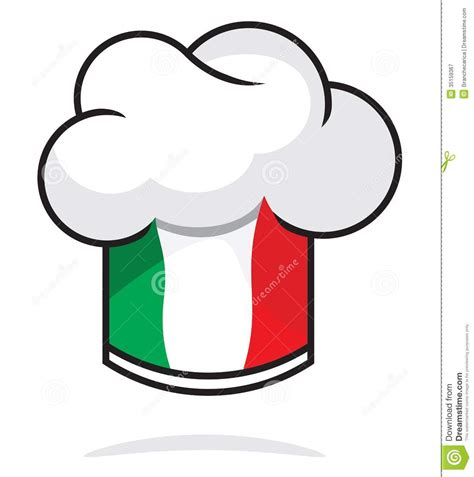 Bakery Kitchen Design by Italian Chef Hat Royalty Free Stock Photography Image