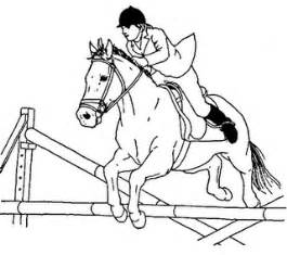 jumping horse coloring pony camp craft ideas jumping horses horse