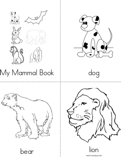 free coloring pages of mammal s