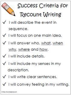 biography writing ks2 success criteria recount writing exle ks1 google search literacy