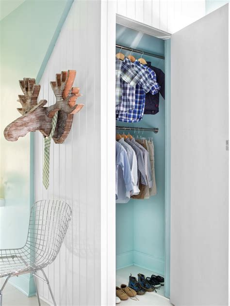 Open Closet Door by Tips For Organizing A Small Reach In Closet Hgtv S