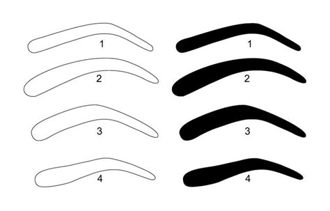 6 best images of free printable eyebrow stencils kit