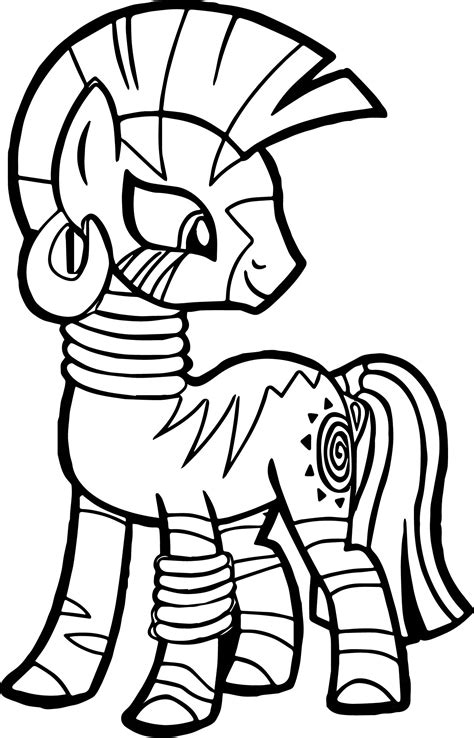 my little pony zecora coloring pages zecora look back coloring page wecoloringpage