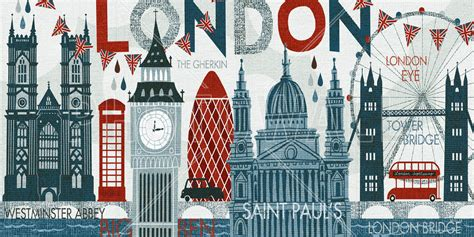 Designer Wall Clock by Hello London Wall Mural Amp Photo Wallpaper Photowall