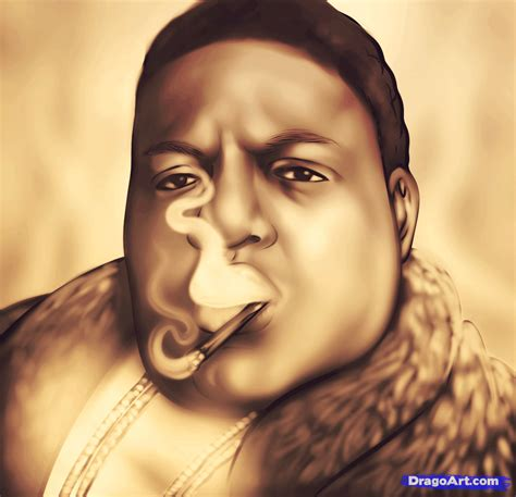 how to draw biggie smalls notorious b i g biggie step