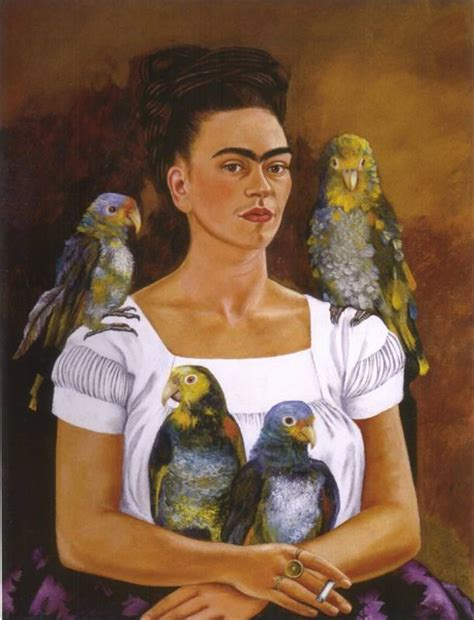 me and my me and my parrot 1941 by frida kahlo