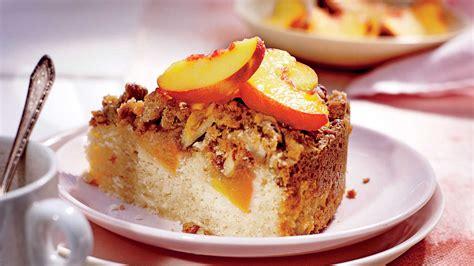 fresh peach coffee cake  pecan streusel recipe