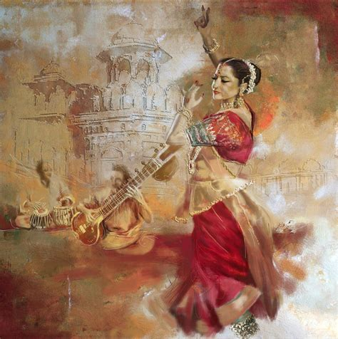 biography of indian classical artist kathak dancer 8 painting by corporate art task force
