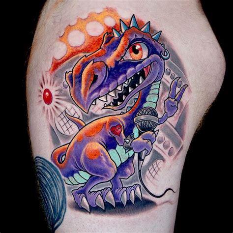 new school dinosaur tattoo 9 best new school dinosaur tattoos images on pinterest