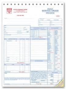 custom hvac service order form
