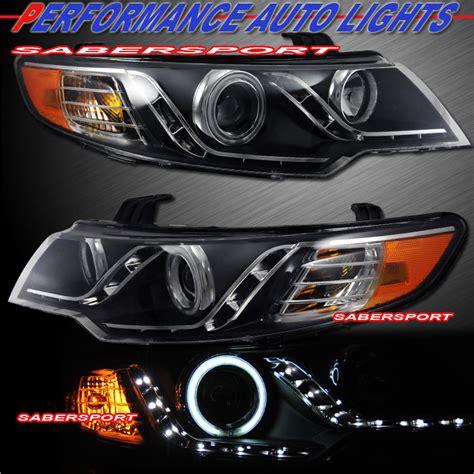 2013 Kia Forte Headlight Bulb Black Ccfl Halo Projector Headlights W Led Parking For