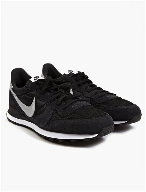 mens black sneakers nike mens black internationalist sneakers in black for