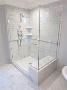 showers with seats new marble tiled shower with seat