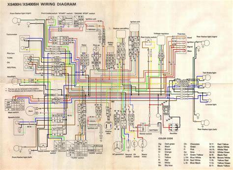 wiring diagram 81 yamaha xs400 wiring diagram with