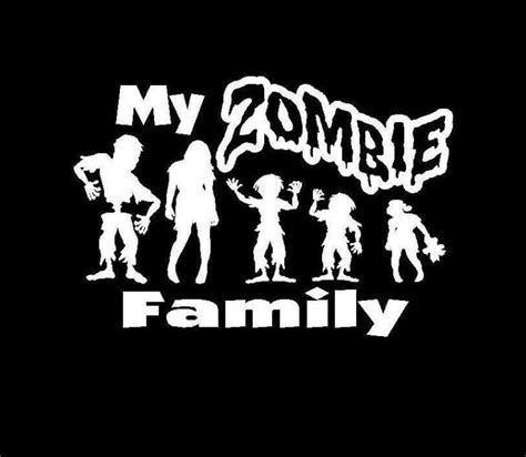 Car Sticker Zombie by My Zombie Family Decal Sticker Custom Sticker Shop