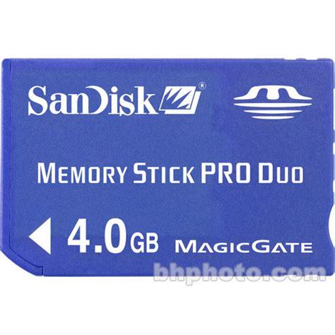 Memori Stik Pro Duo V 4gb used sandisk 4gb memory stick pro duo sdmspd 004g a46 b h