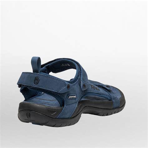 teva tanza leather mens navy blue velcro outdoors walking