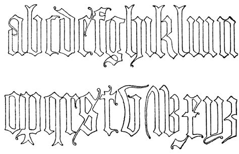 tattoo font lowercase lowercase old english clipart etc