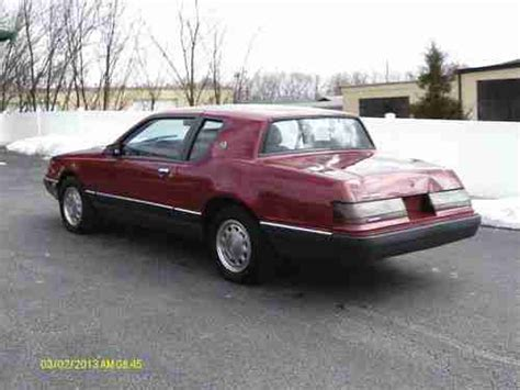 how does a cars engine work 1986 mercury sable user handbook purchase used 1986 mercury cougar xr7 with fuel injected