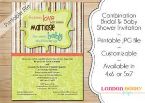 combination bridal baby shower invitation