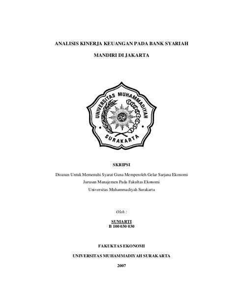 tesis akuntansi keuangan syariah skripsi analisis kinerja keuangan pada bank syariah
