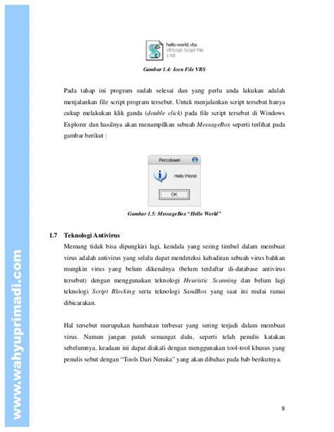 Pemrograna Vb Script Pemrograman Virus Menggunakan Vbscript